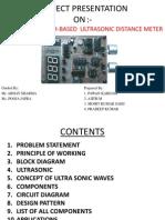 ultra sonic distance meter using microcontroller by pawan kadam