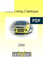 2006 Brake Lining Catalogue