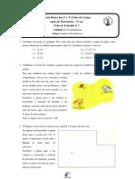 Ficha de Trabalho nº2 - 9º ano