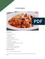 Macarrão com molho italiano