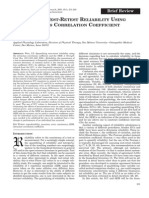Quantifying Test-retest Reliability Using the Interalass Correlation Coefficient and the Sem