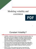 Modeling Volatility