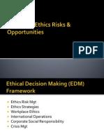 Managing Ethics Risks