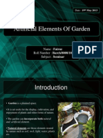 Artificial Elements of Garden