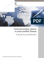 Criminal justice reform