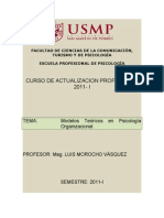 Psicologia Organizacional - Separata Modelos Teoricos
