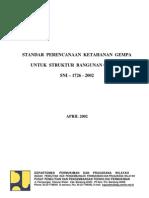 SNI-1726-2001 Standar Perencanaan Ketahanan Gempa Untuk Struktur Bangunan Gedung