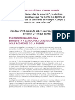 Mente y Cuerpo Segun La Dra Candance Perl Psiconeuroinm.