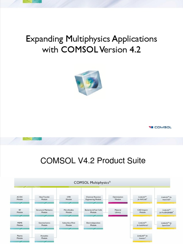 COMSOL V42 Highlights Details | Partial Differential