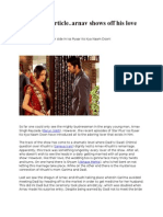 18 Aug New Article..Arnav Shows Off His Love