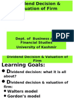 49993463 Dividend Decision Valuation of Firm