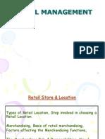 Retail Management 4 StoreAndLocation