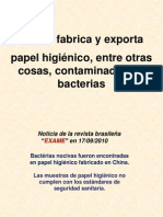 CHINA Papel Higienico Con Bacterias