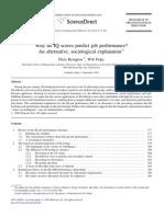 Why Do IQ Scores Predict Job Performance