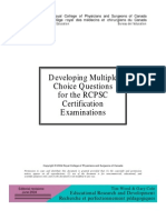 Developing Mcqs for RCPSC