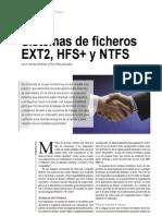 Sistemas de Ficheros EXT2, HFS+ y NTFS