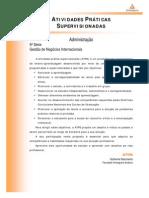 Cead 20131 Administracao Pa - Administracao - Gestao de Negocios Internacionais - Nr (Dmi827) Atividades Praticas Supervisionadas Atps 2013 1 Adm 5 Gestao Negocios Internacionais