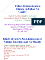 Effect of Future CO2 Emission and Impact on Urban Air Quality