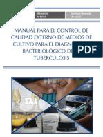 Manual Control Calidad Medios Cultivo Diagnostico Bacteriologico Tuberculosis
