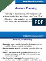 Maintenence Planning