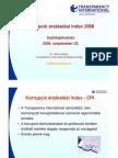 Korrupció érzékelési index 2008