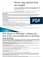 DUI First Offense May Punish Less