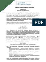 Normas - Programa de Monitoria - FACTO