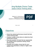 Multiple Choice Tests for Critical Thinking Presentation(1)