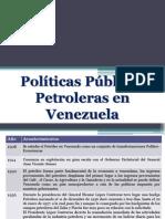 Politicas Petroleras en Venezuela
