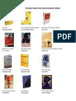 Comprehensive Book List