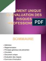 Document unique et évaluation des risques professionnels