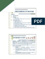 Tema 4. Desarrollo Motor