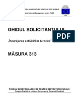 Ghidul Solicitantului Pentru Masura 313 - Versiunea 5 Din Februarie 2011