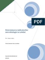 Determinarea Indicatorilor Microbiologici Ai Solului