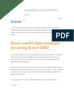 analyze nursing data by using pivottable reports