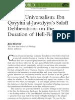 John Hoover Article on Ibn Taymiyya