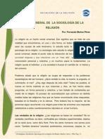 VISIÓN GENERAL DE LA SOCIOLOGÍA DE LA RELIGIÓN