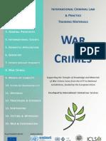 INTERNATIONAL CRIMINAL LAW & PRACTICE TRAINING MATERIALS