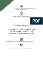 Training Module International Humanitarian Law International Criminal Law & International Criminal Court