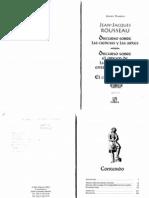 Rousseau- El Origen de La Desigualdad de Los Hombres