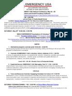 E-USA May 24-26 2013 Conference Agenda