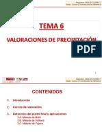 TEMA 6. Valoraciones de precipitación.