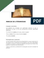 Marcas de Literariedad