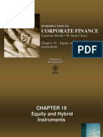 Equity and Hybrid Instruments