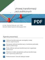 Koncepcja cyfrowej transformacji sieci organizacji publicznych