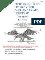 Scientific Principles of Improvised Warfare and Home Defense - Vol I