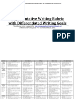 11 and 12th grade writing rubric and goals