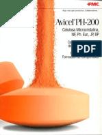 Brochure of Avicel PH 200