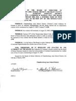 CASD Dusman Resolution 2009