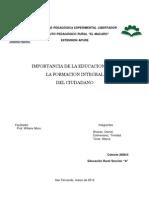 Importancia Educacion Formacion Integral Del Ciudadano